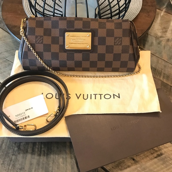 830b9b60e5cf Louis Vuitton Handbags - 🎀Louis Vuitton Damier Ebene Eva Clutch Crossbody